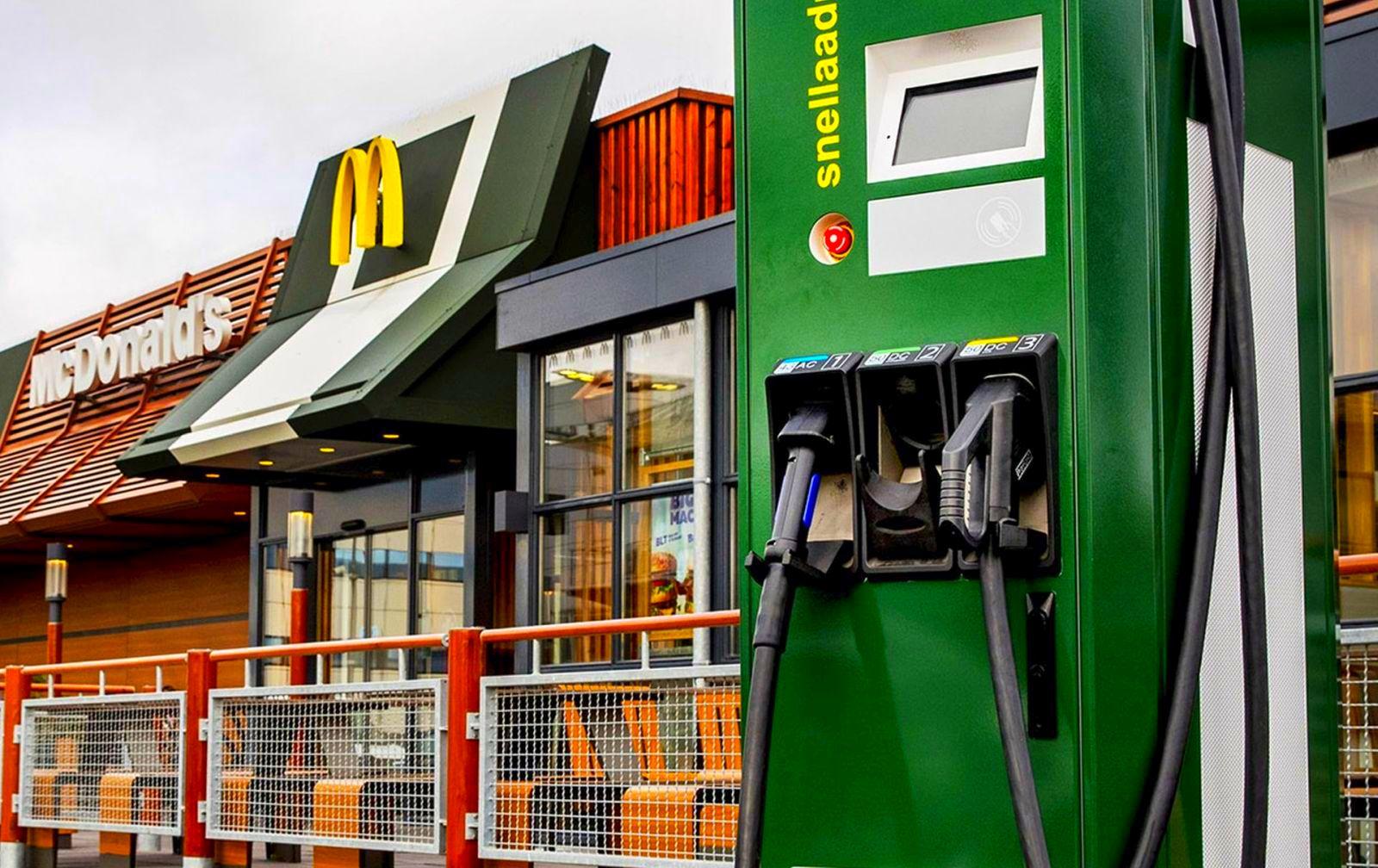 snelladen McDonalds