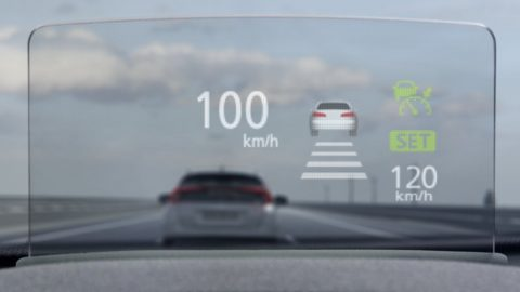 Mitsubishi Eclipse Cross head-up display